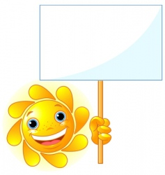 sun shows a sign vector image vector image