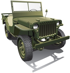 army jeep vector image vector image
