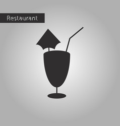 black and white style icon cocktail vector image