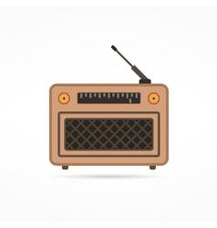 Radio Flat Icon vector image vector image