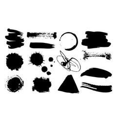 a set grunge ink drops dirty artistic design vector image