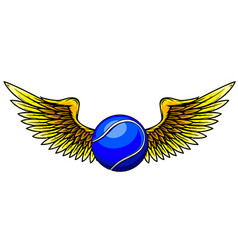 a tennis ball and stylized wings vector image