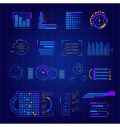 Abstract future interface icon set vector