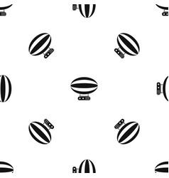 aerial transportation pattern seamless black vector image