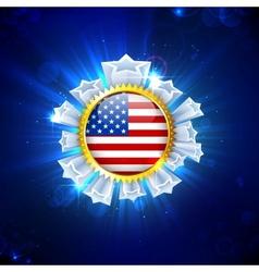 American Flag Badge vector image