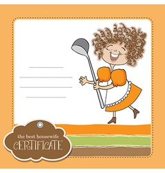 best wifehouse certificate vector image