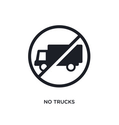 Black no trucks isolated icon simple element from vector