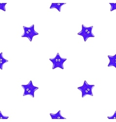 Blue Star Seamless Pattern vector image vector image