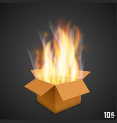 Box fire vector