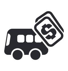 Bus cost icon vector