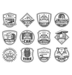 car service and garage icons vector image
