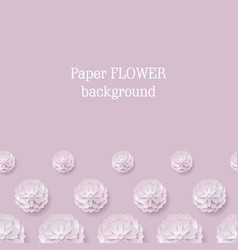 card paper flower violet background below vector image