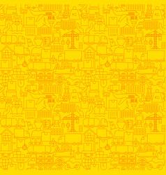 Cargo transport line seamless pattern vector