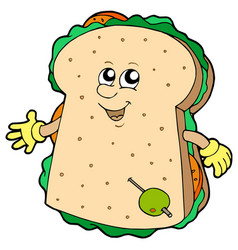 cartoon sandwich vector image