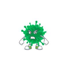 Charming coronavirus pneumonia waving hand vector