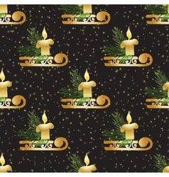Christmas and New Year vintage seamless pattern vector image