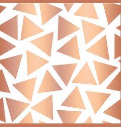 Copper foil triangle seamless background vector