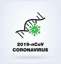coronavirus concept wuhan 2019-ncov icon virus vector image