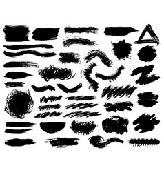 creative isolated paint brush strokes or spots vector image