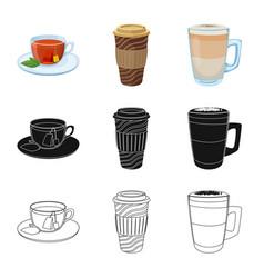design drink and bar sign set drink vector image