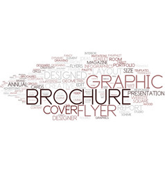 designed word cloud concept vector image vector image