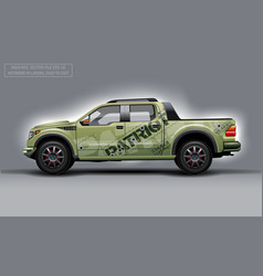 Editable template for wrap suv with patriot theme vector