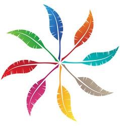 Elegant feather emblem design vector