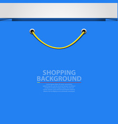 Empty bag background shopping concept vector