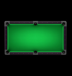 Empty pool table realistic detailed vector