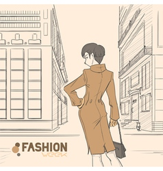 fashion style04 vector image
