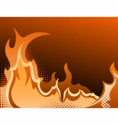 Fire halftone background vector
