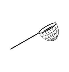 Fishing net black simple icon vector image