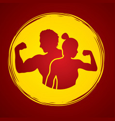 fitness man and woman healthy human vector image