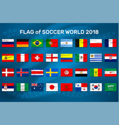 Flag of world soccer vector