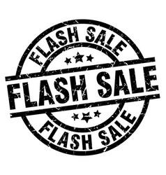 Flash sale round grunge black stamp vector