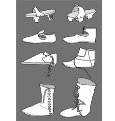 Footwear from the 13th century vector image