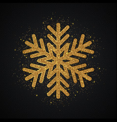 gold glitter snowflake christmas background vector image