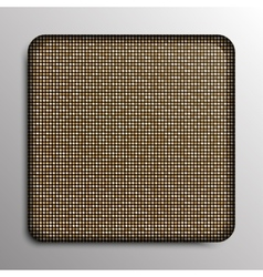 Gold sequin square button on background vector