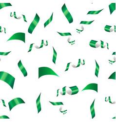 Green confetti on a white vector