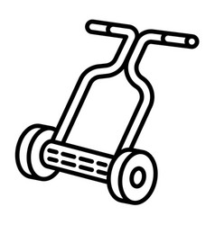 Hand lawnmower icon outline style vector
