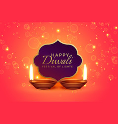 Happy diwali design background with sparkles and vector