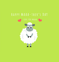 happy mothers day design concept greeting card vector image
