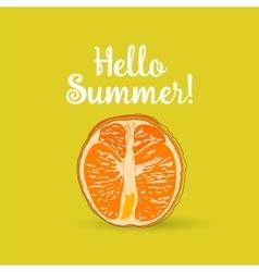 Hello Summer orange vector image