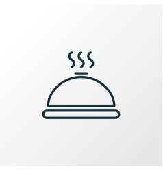 hot meal icon line symbol premium quality vector image