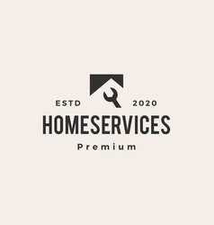 house home service hipster vintage logo icon vector image