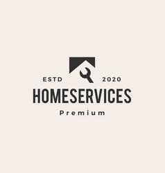 House home service hipster vintage logo icon vector
