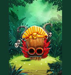 Jungle shamans background vector