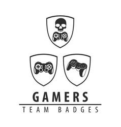 Logos for computer games vector