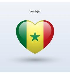 love senegal symbol heart flag icon vector image
