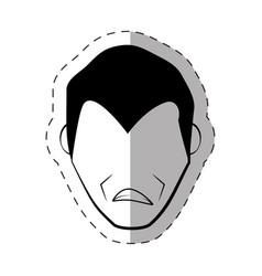 male faceless character image vector image